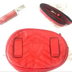 New Red Heart Valentine Quilted Fanny Pack